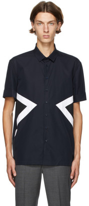 Neil Barrett Navy Modernist Short Sleeve Shirt