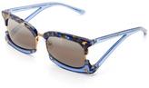 Prabal Gurung Rectangular Sunglasses With Claw Detail