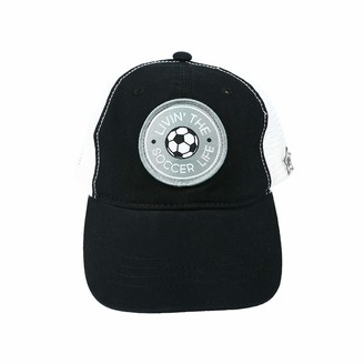 Pavilion Gift Company Livin' The Soccer Life-Black Unisex Adjustable Snapback Mesh Baseball Hat