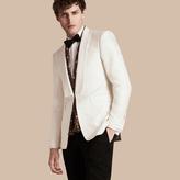 Burberry Slim Fit Cotton Silk Half-canvas Tuxedo Jacket , Size: 46r, White