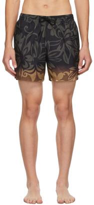Dries Van Noten Black Floral Swimsuit