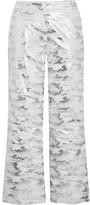 Topshop Sno - Liza Jane Metallic Camouflage-print Ski Pants - Silver
