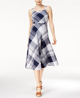 Maison Jules Plaid Midi Dress, Only at Macy's