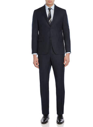 DKNY Two-Piece Navy Milled Wool Suit