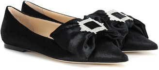 Jimmy Choo Gilly calf hair ballet flats