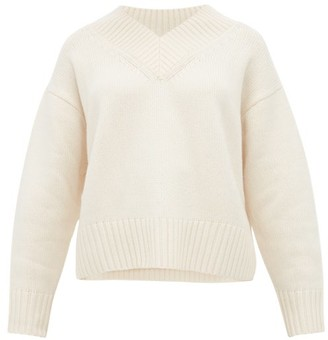 Joseph V-neck Wool-blend Sweater - Womens - Ivory