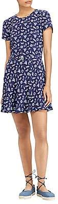 Polo Ralph Lauren Women's Belted Mini Dress