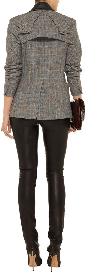 Roland Mouret Milward checked wool jacket