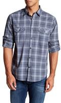 James Campbell Moda Check Long Sleeve Woven Shirt