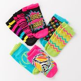 Pink Cookie 7-pk. peace sign no-show socks - girls