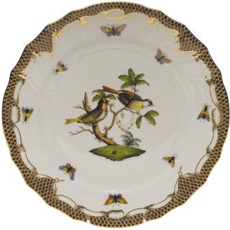 Herend Rothschild Bird Brown Motif 11 Dinner Plate