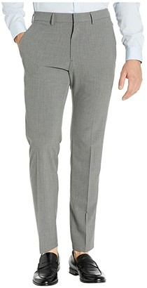 Kenneth Cole Reaction Stretch Pinstripe Slim Fit Flat Front Dress Pants (Dark Grey) Men's Dress Pants