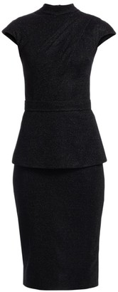 Safiyaa Kennedy Mockneck Cap Sleeve Midi Dress