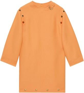 Gucci Button Detail Shift Dress