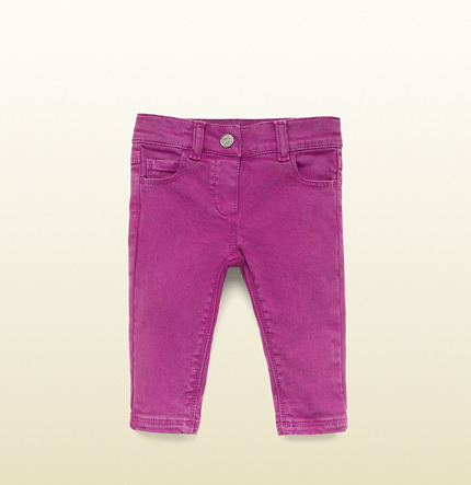 Gucci Fuchsia Denim Rolled Pant