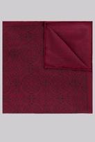 Hardy Amies Burgundy & Navy Mosaic Silk Pocket Square
