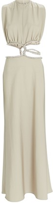CHRISTOPHER ESBER Crystal Interwoven Maxi Dress