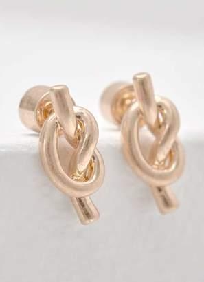 Mint Velvet Gold Knotted Stud Earrings