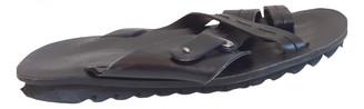 Cesare Paciotti Black Leather Sandals