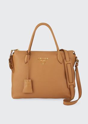 Prada Daino Zip-Top Tote Bag