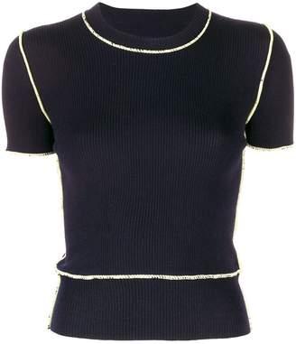 Maison Margiela ribbed knit top