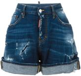 DSQUARED2 wide leg denim shorts - women - Cotton/Spandex/Elastane - 40