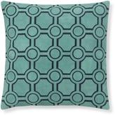 Williams-Sonoma Williams Sonoma Suede Cutwork Pillow Cover, Aqua
