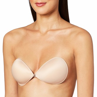 Pure Style Girlfriends Women's Uplifting Ultra Light Deep V Adhesive Backless Strapless Bra