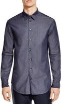 Armani Collezioni Denim Double-Face Classic Fit Button-Down Shirt