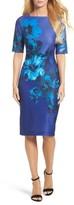 Gabby Skye Women's Floral Print Scuba Sheath Dress