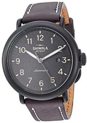 Shinola Detroit 45 mm Runwell Automatic (Black/Kodiak Leather Strap) Watches