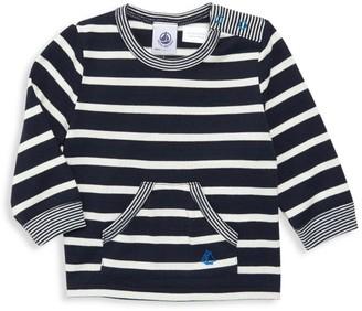 Petit Bateau Baby Boy's Striped Bear Graphic Top