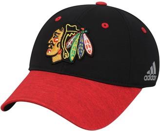 adidas Women's Black/Red Chicago Blackhawks Unstructured Alpha Adjustable Hat