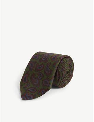 Bigi Cravatte Paisley print wool tie