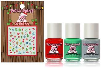 Piggy Paint Santa's Sweetie Set of 3 Nail Polish & Nail Art