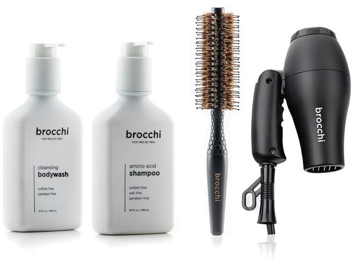 Thumbnail for your product : Sebastian Brocchi Brocchi Travel Hair Dryer, Styling Brush, Amino Acid Shampoo & Cleansing Body Wash Bundle