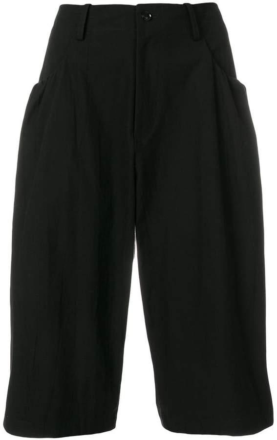 Y's wide leg cropped pants