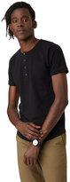 Frank & Oak Henley T-Shirt in True Black