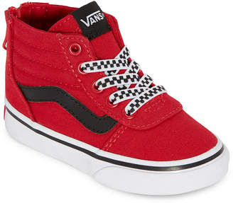 Vans Ward Hi Zip Toddler Boys Skate Shoes