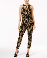 Thalia Sodi Printed Cutout Jumpsuit, Only at Macy's