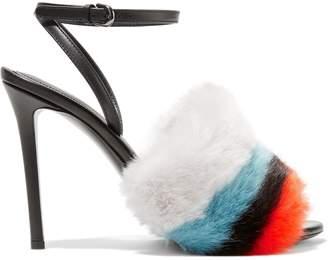 Marco De Vincenzo Color-block Faux Fur Sandals