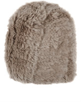 Barneys New York Women's Fur Beanie-GREY
