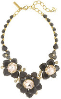 Oscar de la Renta Faceted Resin Flower Statement Necklace
