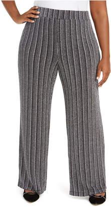 JM Collection Plus Size Metallic Soft Pants