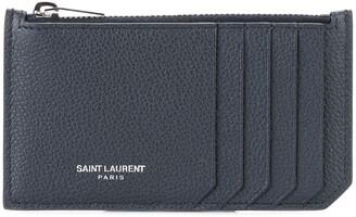 Saint Laurent Paris 5 Fragments zip cardholder