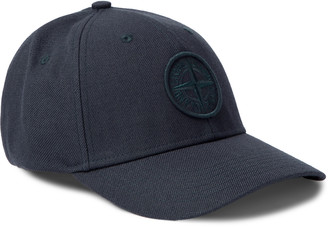 Stone Island Logo-Appliqued Cotton-Twill Baseball Cap