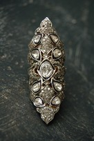 Ronas Rona Pfeiffer Long Diamond Ring Sterling .925 And 14k Gold. 2.83 C Diamonds. Size 6.5
