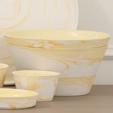 The Well Appointed House Global Views White and Yellow Serving Bowl-Set of Three