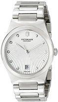 Victorinox Women's 241630 Victoria Analog Display Swiss Quartz Silver Watch