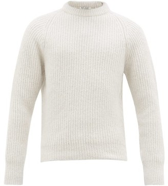 Our Legacy Ribbed Alpaca-blend Sweater - Mens - White